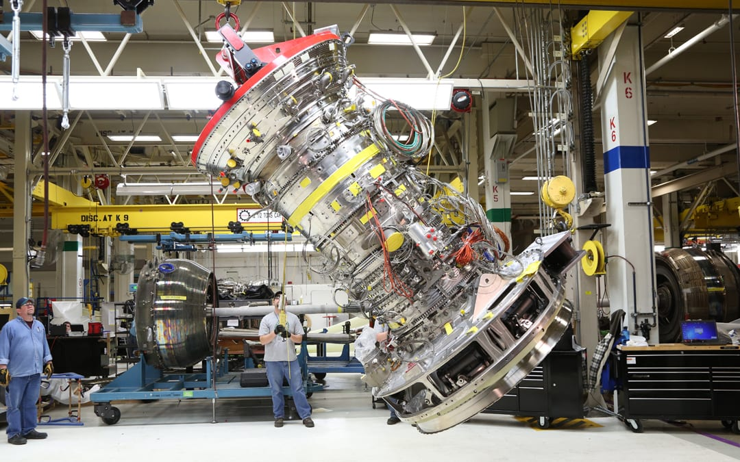 Final assembly underway on GE Aviation's first GE9X engine