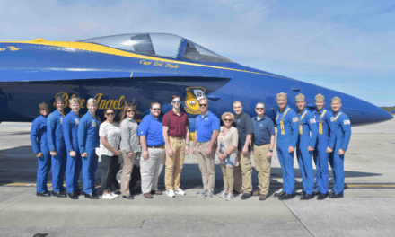 Air and Sea: GE Employees See Blue Angels and Tour a Navy Destroyer